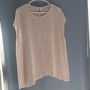 Cream Color Sheer Tank Cover Old Navy M